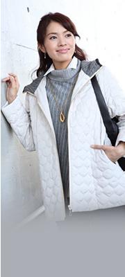 【Vol,9】フード裏が暖か上品スタイルに!新作中わたジャケット。 詳細へ