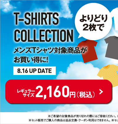 Tシャツコレクションセットフェアレギュラーサイズはこちら