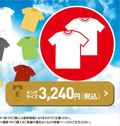 Tシャツコレクションセットフェアキングサイズはこちら