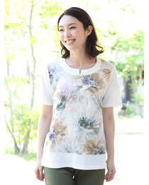 【MADE IN JAPAN】麻プリントTシャツ