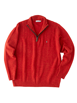 ハーフZIPセーター