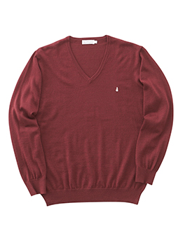 梳毛Vセーター