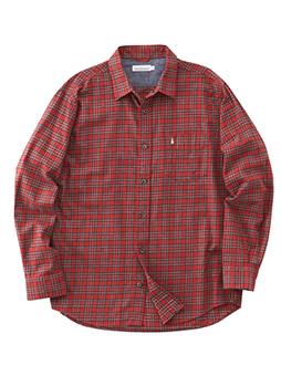 ツイルピーチチェックシャツ