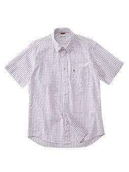 レノクロスチェックBDシャツ