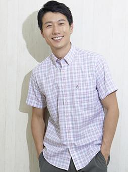 DRYグラデーションチェック BDシャツ