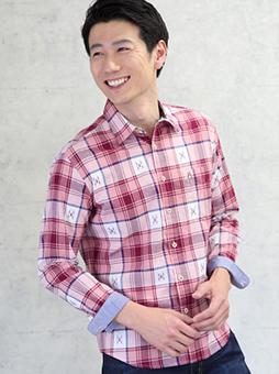 カットドビーチェックシャツ