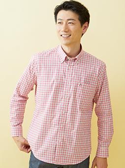イージーケアライトオックスチェックBDシャツ