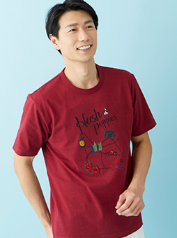 MAPモチーフ刺繍Tシャツ