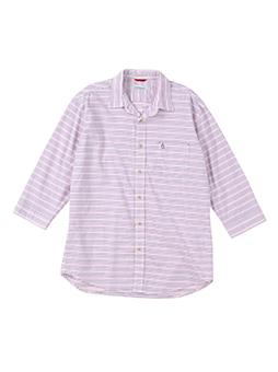 ドビーボーダー7分袖シャツ