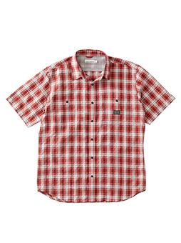クイックドライUVカットチェックシャツ