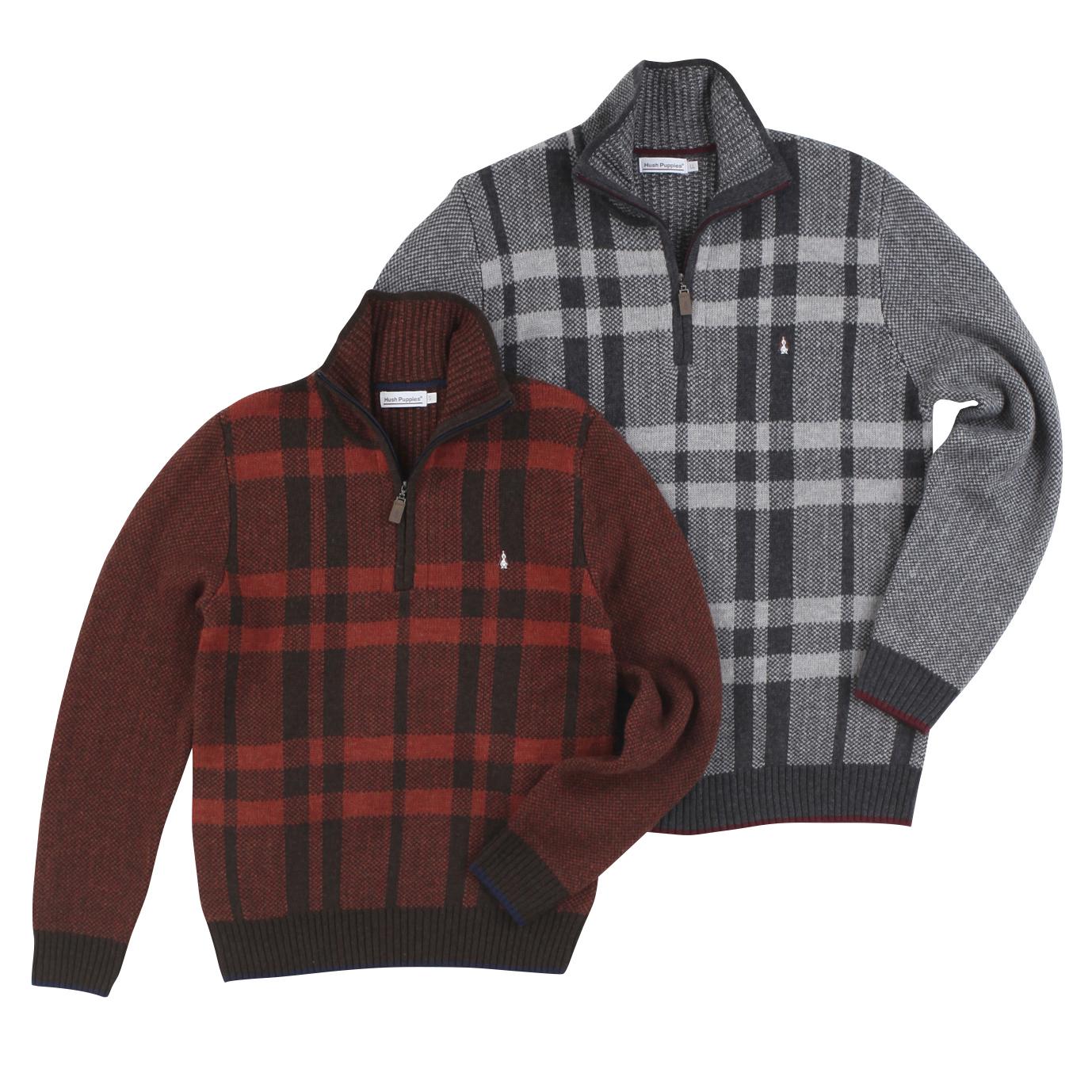 JQチェックハーフZIPセーター商品画像