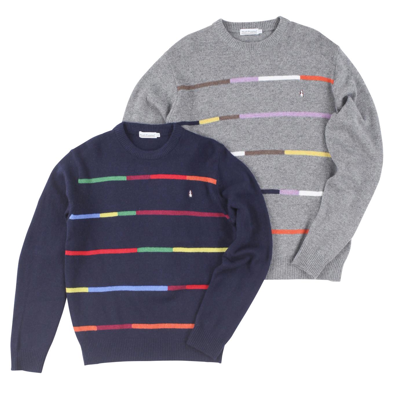 レインボーボーダークルーセーター商品画像
