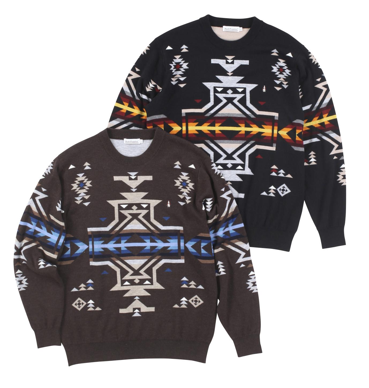ネイティブ柄JQクルーセーター商品画像