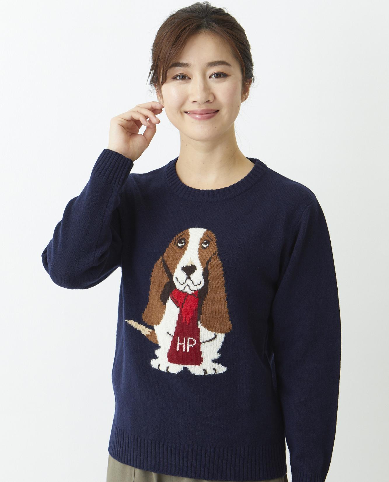 ラム犬JQクルーセーター商品画像