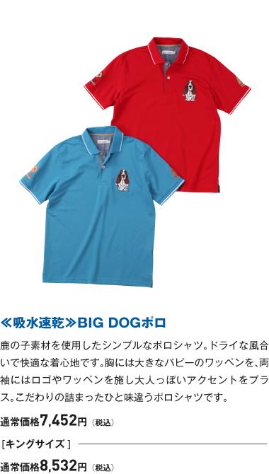 ≪吸水速乾≫BIG DOGポロ