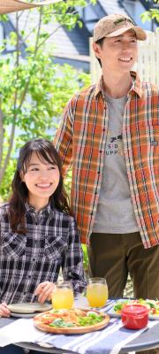 【Vol,99】ベランピングはアウトドア意識のチェックシャツで気分UP!