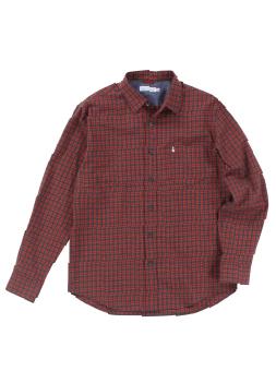ピーチ起毛ツイルパターンチェックBDシャツ