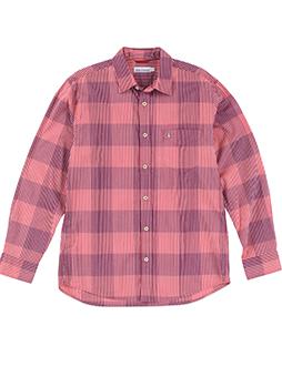 ハケメブロックチェックシャツ