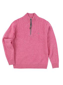 ラムハーフZIPセーター