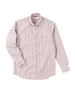 イージーケアへリンボンストライプB.Dシャツ
