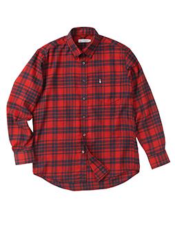 フランネルテックパターンチェックB.Dシャツ