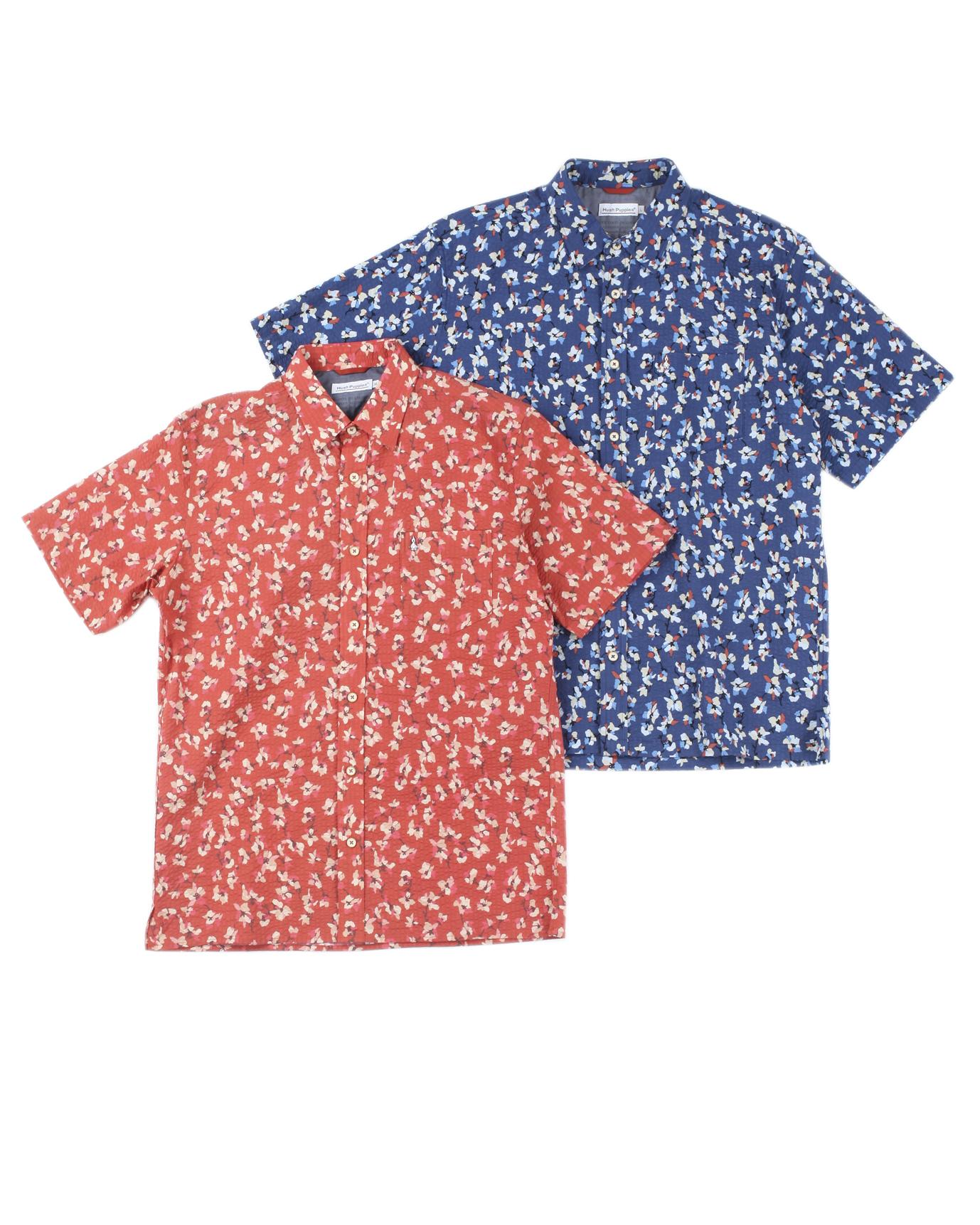 リップル花柄プリントシャツ
