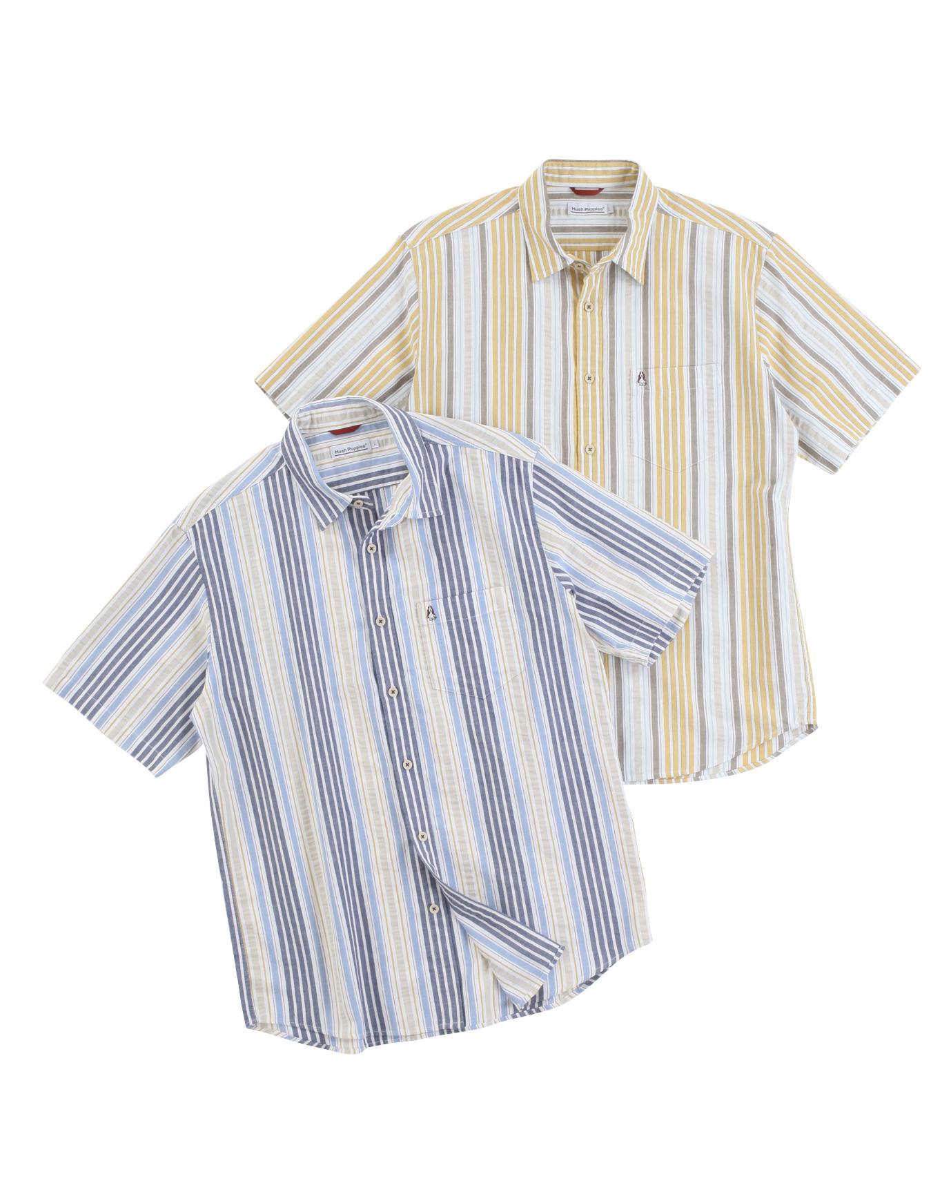 【JAPAN FABRIC】サッカーマルチストライプシャツ