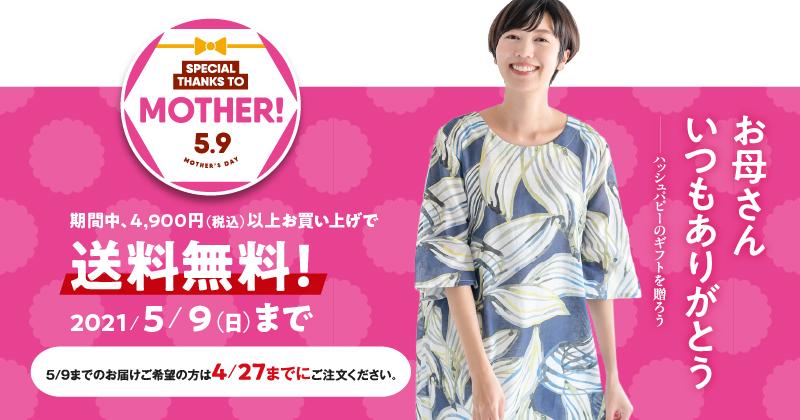 母の日フェア開催中 期間中4,900円以上お買い上げで送料無料!
