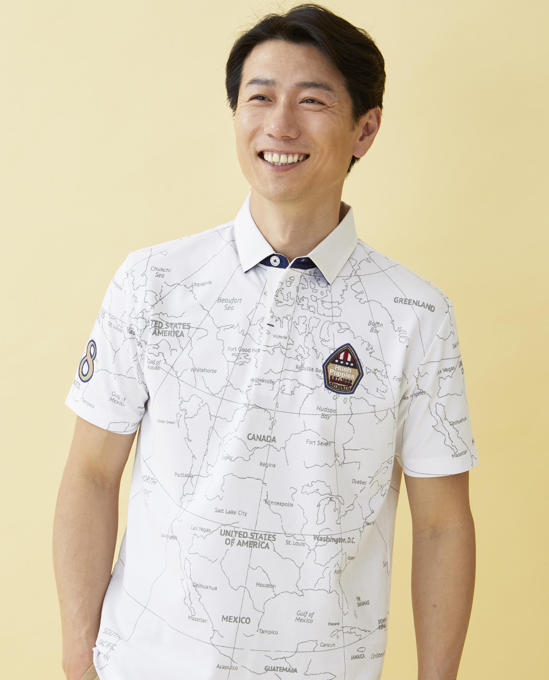 地図PTポロシャツ