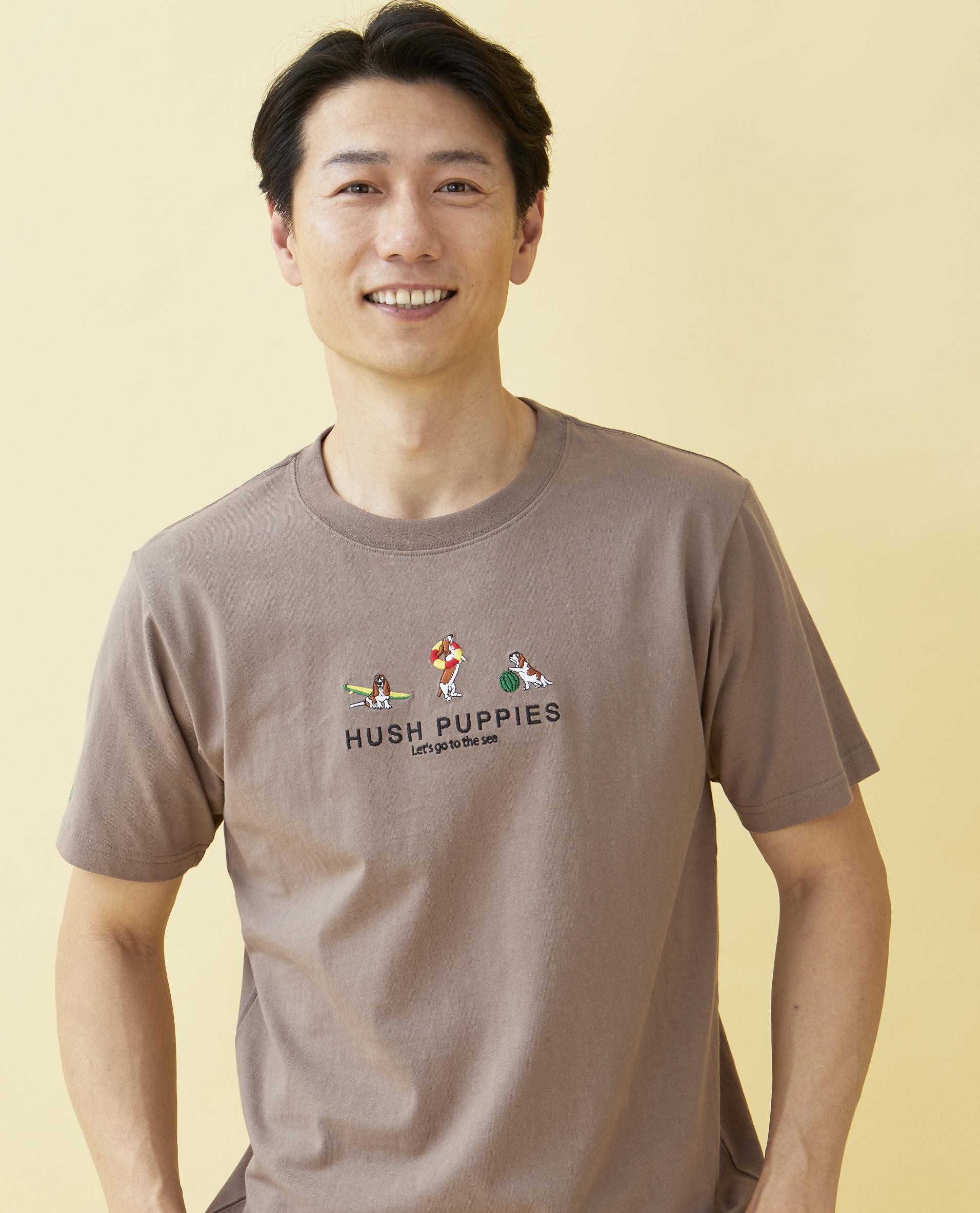 サーフモチーフ刺繍Tシャツ