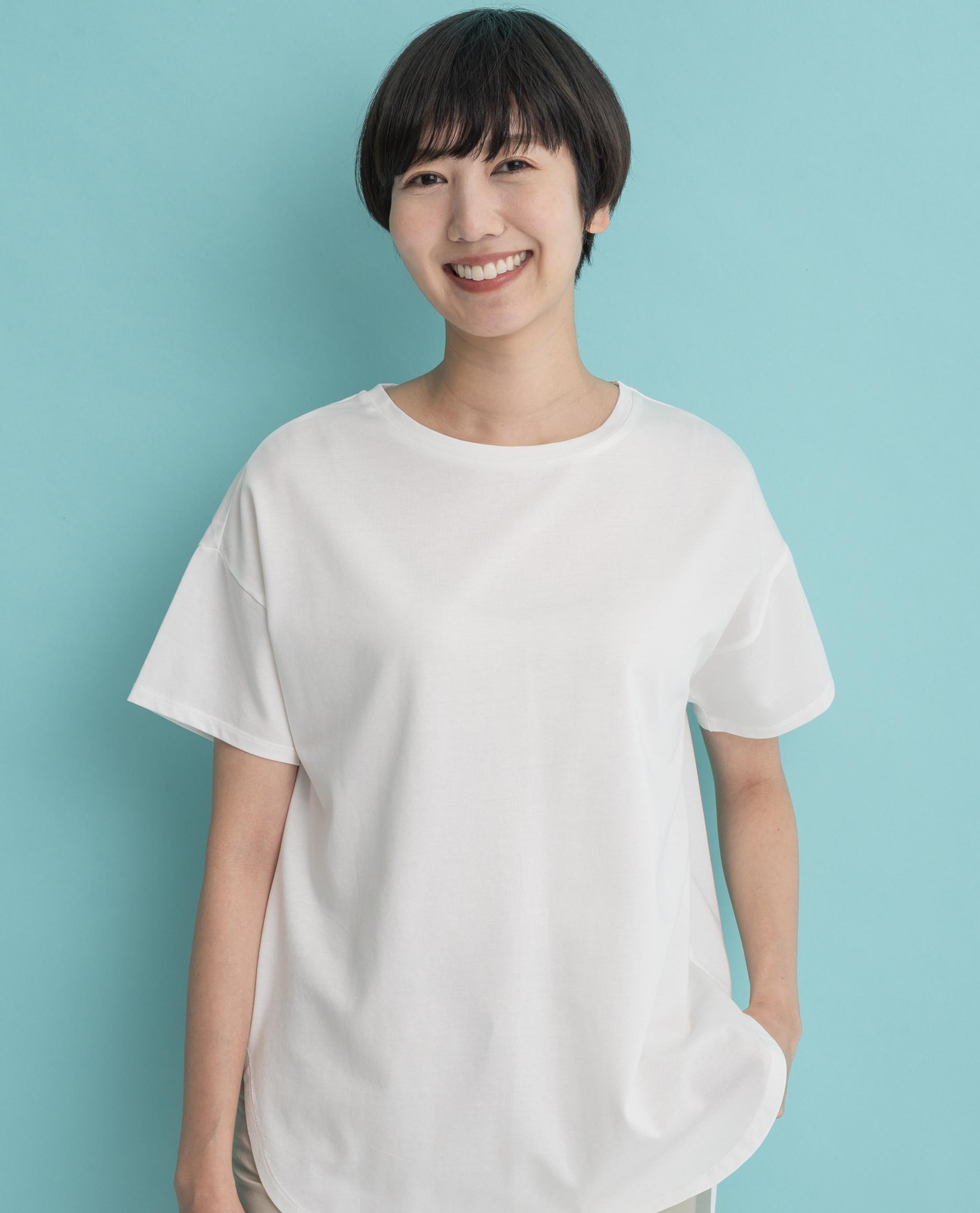 サラサラタッチ綿テンセルTシャツ