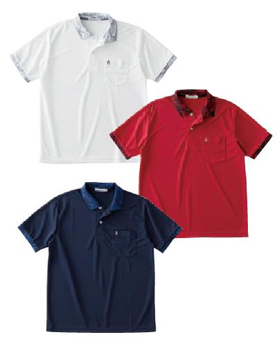MADE IN JAPAN迷彩リブラインドライポロシャツ