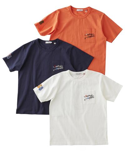 バックモチーフ刺繍Tシャツ
