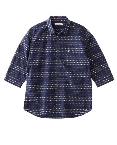 ランダムボーダー7分袖シャツ