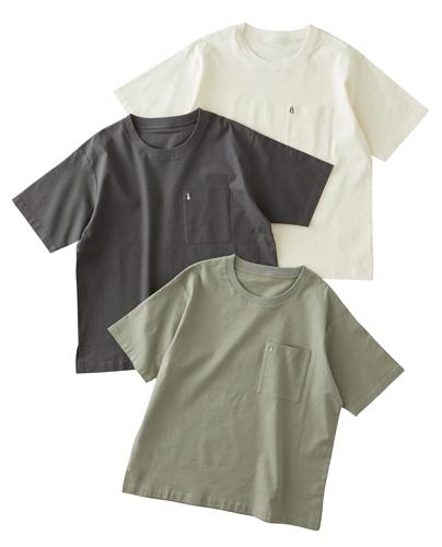 ストレッチL R布帛Tシャツ【メンズ】