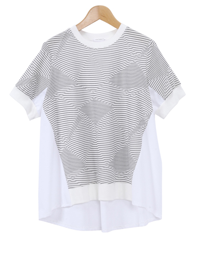 【MADE IN JAPAN】ジグザグボーダー切替Tシャツ