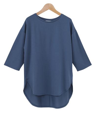 サラサラタッチ綿テンセル7ブソデTシャツ