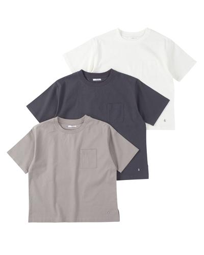 ストレッチL R布帛Tシャツ